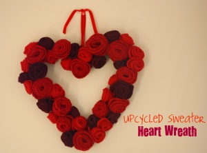 Sweater Heart Wreath