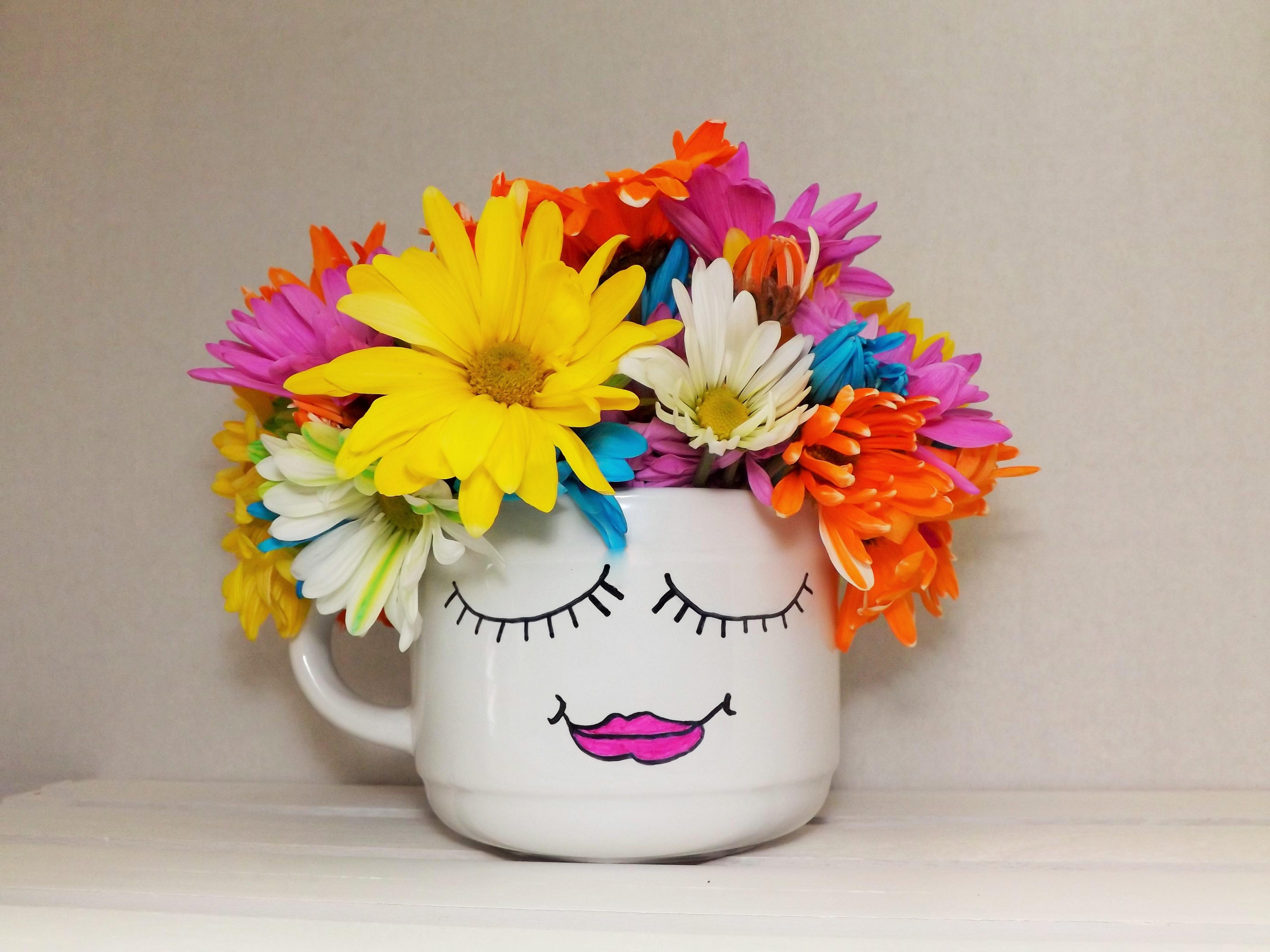 Sharpie Mug Flower Vase Wonderful Creations Blog