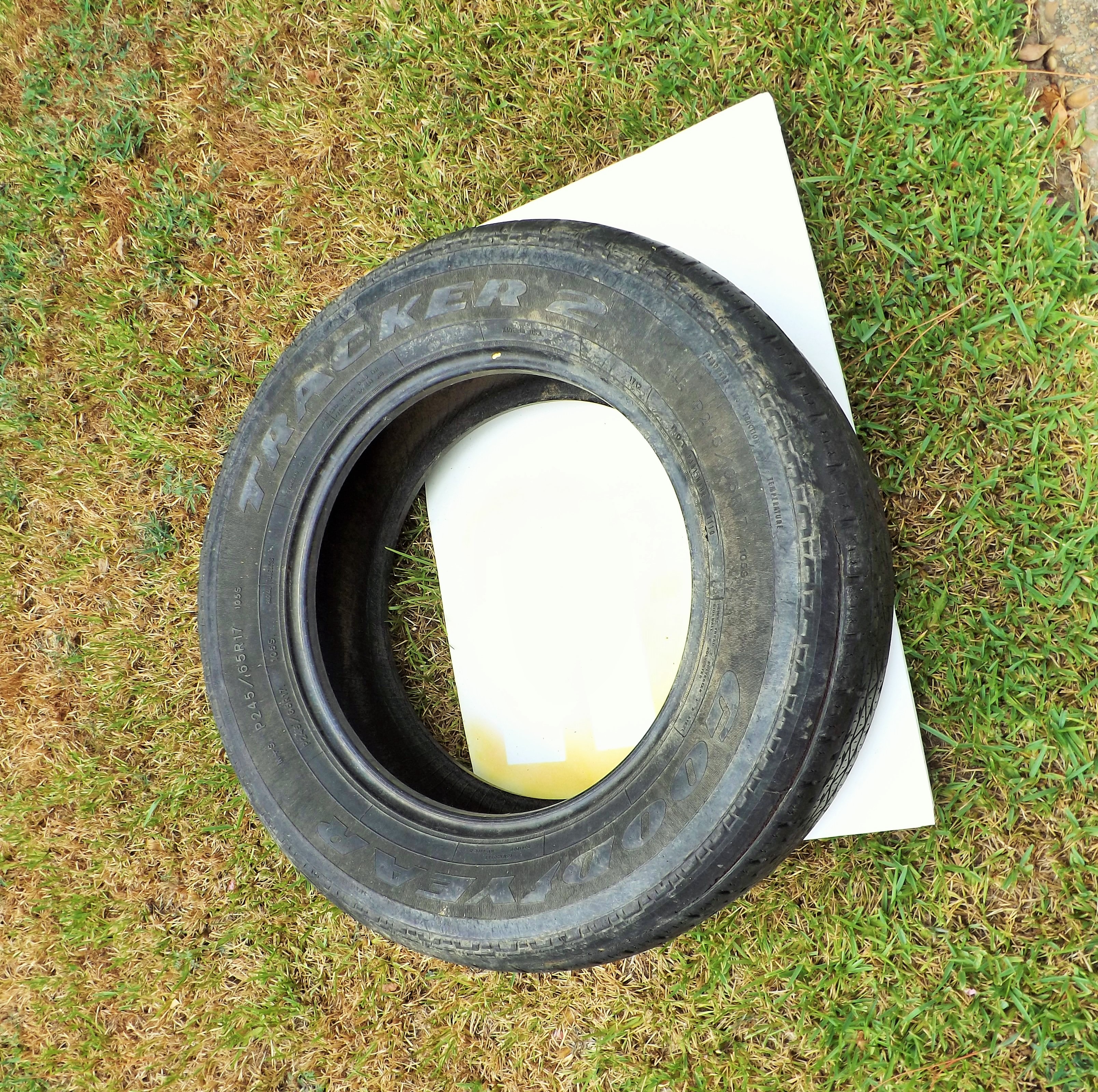 Diy hanging tire planter wonderful creations blog for Using tyres as planters