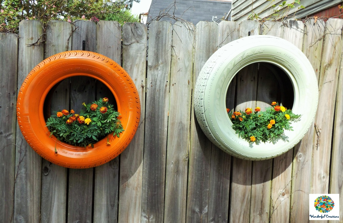 Best Off Road Tires >> DIY Hanging Tire Planter – Wonderful Creations Blog