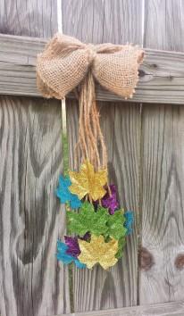 Hanging Glitter Leaves