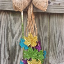 Hanging Glitter Leaves