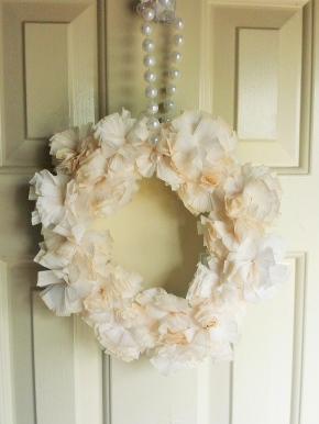 Crepe Flower Wreath 2