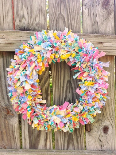 fabric wreath 6