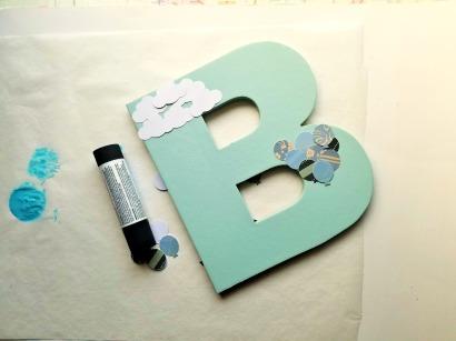 Chipboard Letter 5