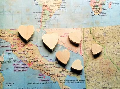 Wood Hearts 1