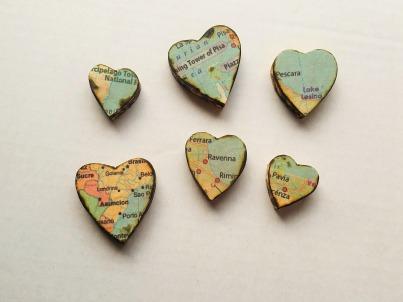 Wood hearts 6