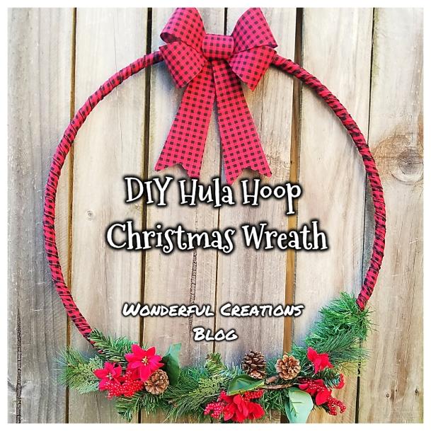 HulaHoopChristmasWreath