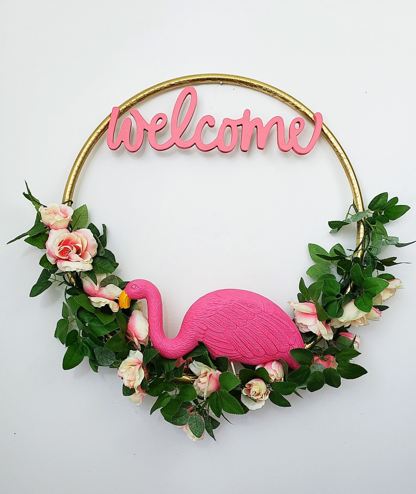Flamingo Wreath